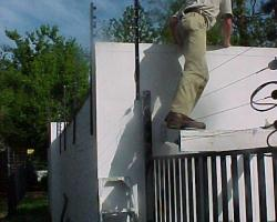 Over electric fence ladder
